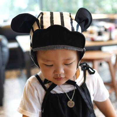 [꿈꾸는두부]구르미 마우스(블랙) 동물보넷 아기모자(S/M)