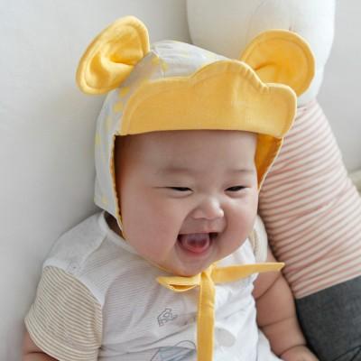 [꿈꾸는두부]구르미마우스(노랑) 동물보넷 아기모자(S/M)