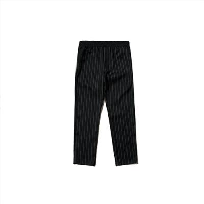 BANDING POINT PANTS_STRIPE BLACK