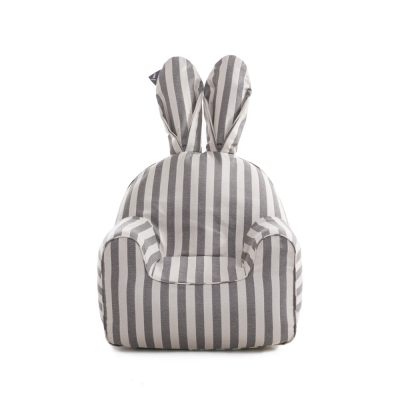 rabito chair small cover (Vintage gray Stripe) - 이너 별도 구매