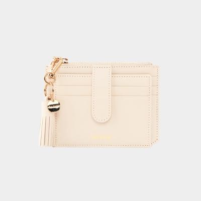 [태슬증정]Dijon 301S Flap Card Wallet cream beige