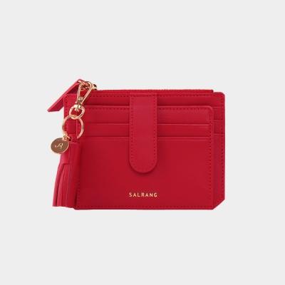 [태슬증정]Dijon 301S Flap Card Wallet cherry red