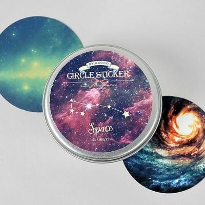 Circle Sticker Tin-11 Space