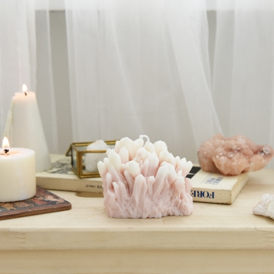 gemstone candle - rose quartz