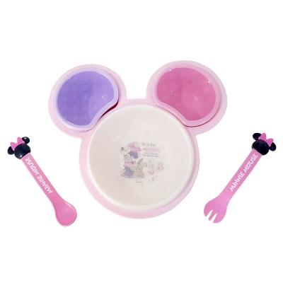 디즈니 미키미니 마우스 식판 이유식세트2in1