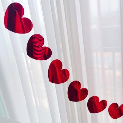 Mirror Red Heart Garland