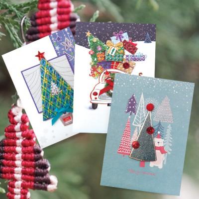 숲속 크리스마스카드 FS1025 Set456 (3종 한세트)
