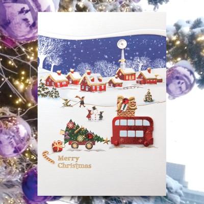 눈 크리스마스카드 FS1024-3