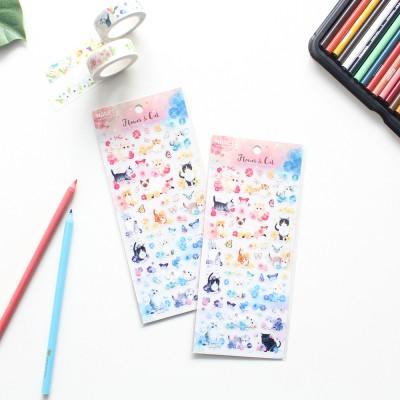 마넷 스티커 - Flower&cat(플라워&캣)