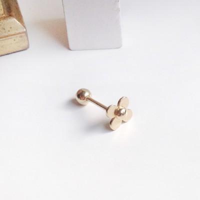 14k gold lui flower piercing