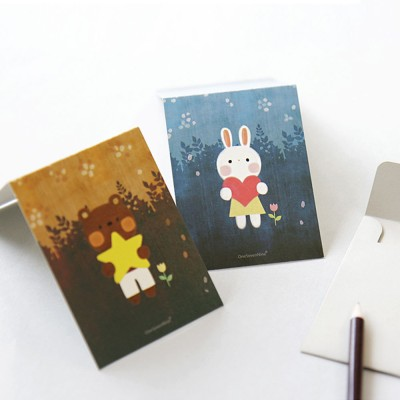 mini message card - 포유 (10EA)