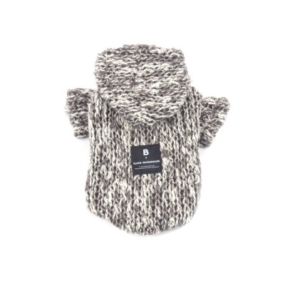 [blackmayonnaise] Down Knit Hoodie_Gray