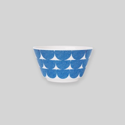 Ocean blue wave bowl S