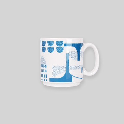 Ocean blue bridge mug