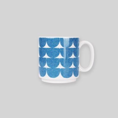 Ocean blue wave mug