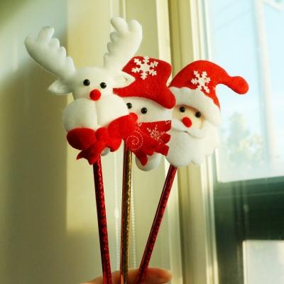 크리스마스 3종 인형 막대볼펜