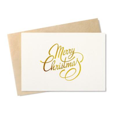 [금박] 메리크리스마스 카드