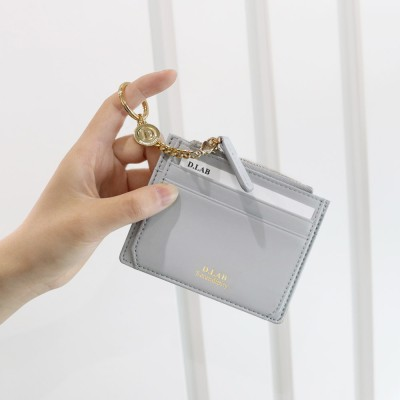 [★별자리 키링 증정] D.LAB Coin simple card wallet - Gray