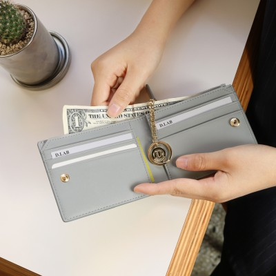 [★별자리 키링 증정] D.LAB Coin Half wallet - Gray
