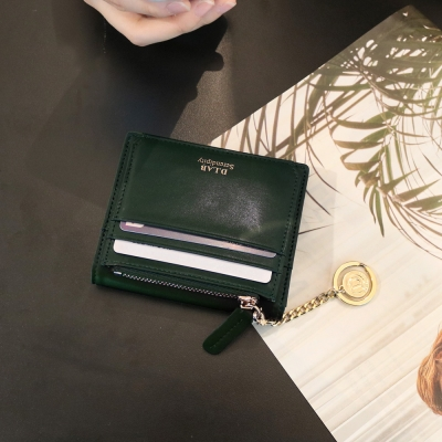 [★별자리 키링 증정] D.LAB Coin name card wallet - Green