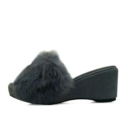 Rich long fur wedge mule_KM16w244