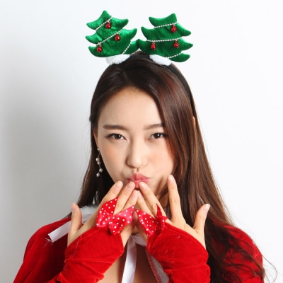 크리스마스 트리 머리띠 (2color)