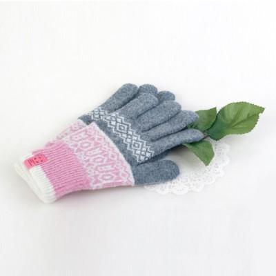 니트 보온 장갑 팡팡 (핑크)