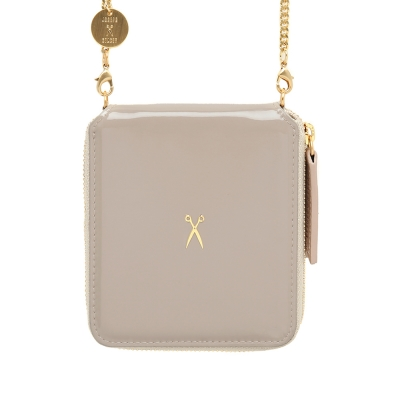 Easy Pass Bolt Wallet Patent Beige