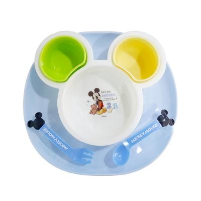 디즈니 정품 흘림방지 미키미니 마우스식판 (스푼,포크포함)