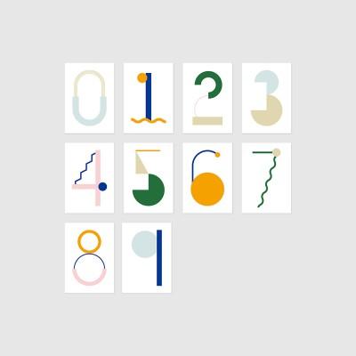 Geometric numbers card