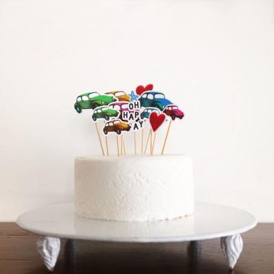 오 파티 케이크 토퍼-자동차