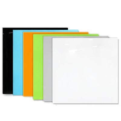 에코 칼라유리칠판600x600/자석부착식/칼라선택
