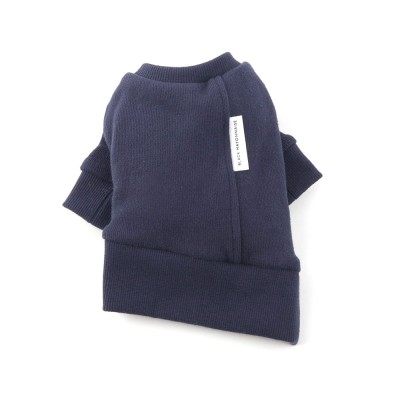 [blackmayonnaise] White Label Crew Top_Navy