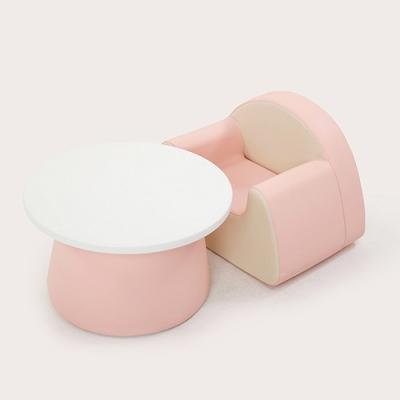 스몰비 디자인랩 원형테이블세트 | 핑크