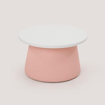 스몰비 디자인랩 원형테이블 | 핑크