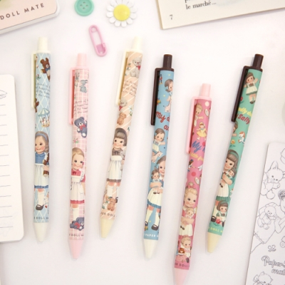 Paper doll mate tick-tock ball pen