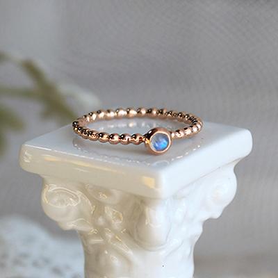 레인보우 문스톤 띵 반지 rainbow moonstone thing ring