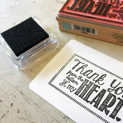 촉촉한 pigment inkpad - Black