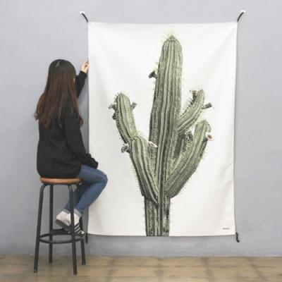 초대형 선인장 태피스트리 / 식물 패브릭 포스터