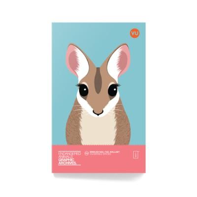 왈라비 멸종위기동물 미니노트