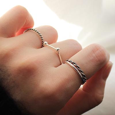 실버 플래닛 4세트 반지 silver planet 4set ring