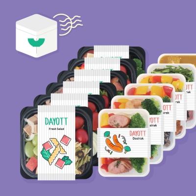 두끼식단 샐러드&곤약밥 도시락 정기배송 프로그램