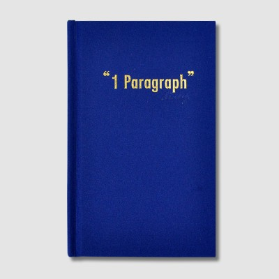 1 Paragraph Diary-Hardcover Blue