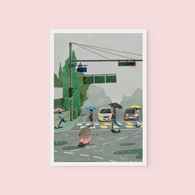비오는날 - POSTCARD