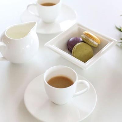 화이트블룸 에스프레소 컵&소서