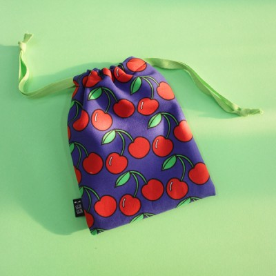 cherry string pouch