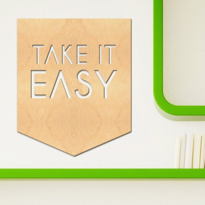 우드월데코-레터링 take it easy A69 (반제품) 스티커