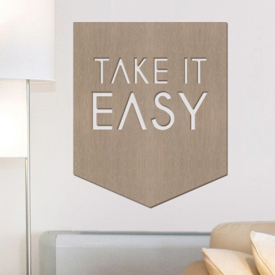우드월데코-레터링 take it easy A69 (컬러완제품)
