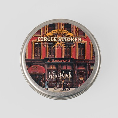 Circle Sticker Tin-12 NewYork