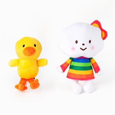 Miss rainbow & chicky plush toy